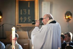 Trosa församlings kyrkoherde Göran Ritterfeldt passade på att föreviga händelsen.