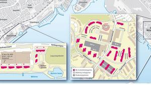 Vid Lögarängsbadet ville Klövern anlägga en ny stadsdel, samtidigt som man ville förtäta på Öster Mälarstrand. Men det blev ingenting av planerna.