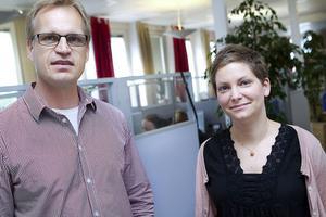 Patrik Åvestrand är vd och grundare till ICT som arbetar med medicinsk information. Karin Olsson är en av tre sjuksköterskor på kontoret i Ljusdal.