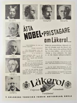 Åtta nobelpristagare som gör reklam för en tablett! Det har nog ingen annan godistillverkare lyckats med.