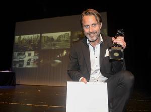 När Niclas Hammarström vann 1:a pris i klassen årets utländska nyhetsreportage i Årets Bild-prisutdelningen på Sundsvalls Teater 2014.