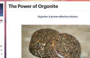 Skärmdump från en av alla internetsajter som handlar om orgonit.