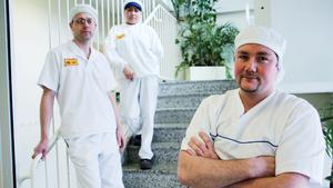 Joakim Wiik, Genevieve Kettunen och Tommy Larsson jobbar på Vaasan i Fagersta.