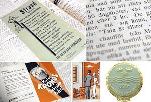 Färgglada reklamblad dök upp i NP1934. Det var också året då simborgarmärket föddes.