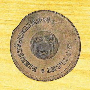 1/2 Skilling Sverige Riksgäldskontoret Pollett 1799