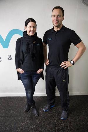 Maria och Marcus Bystedt driver gymmet Måva i Brunflo.