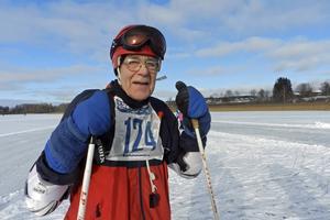 Den äldste åkaren i Brunnsjörännet var Birger Danielsson 87 år.