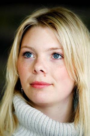 Johanna Löfgren verkade rätt nöjd efter några timmars konstant skrivande i provsalen.