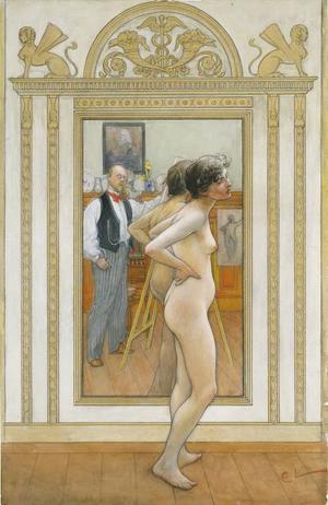 Framför spegeln, 1898.