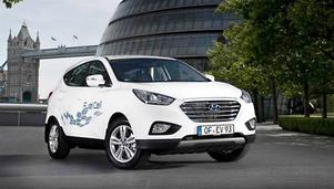 Räckvidden i Hyundai är på en tank cirka 60 mil. Priset är 629 000 kronor.