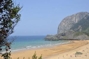Vacker vy i spanska delen av Baskien.