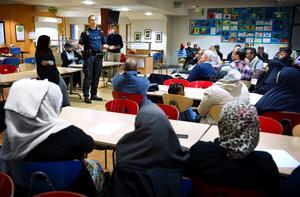 27 september 2013. Polisen hade ett dialogmöte med oroliga föräldrar efter att de första ungdomarna rest till Syrien 2013.