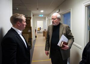 Tunabyggens vd Jörgen Olsson och ordförande Olle Rigborn (S).