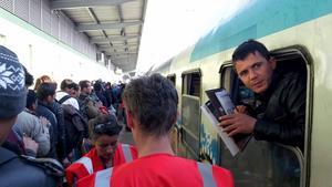 En lugn dag kan omkring 6000 personer passera gränsen till Slovenien.
