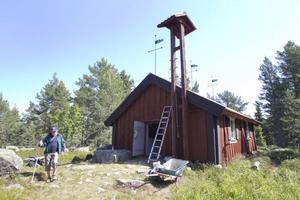 Gunnar Selin, tidigare kapellvärd på Bålsön, var på plats i fredags.