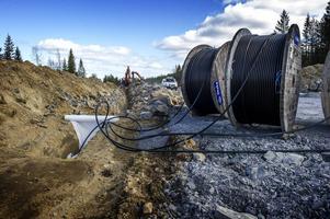 Kabel för 33 kilovolt ska läggas från varje vindkraftverk.