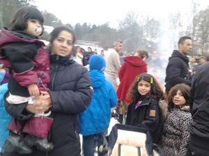 I eftermiddags firades det kurdiska nyåret Newroz vid Hällbyskolan på Bäckby.