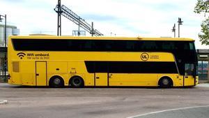 UL-buss på sträckan Västerås-Enköping-Uppsala.
