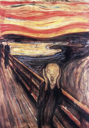 En vit fläck på Edvard Munchs