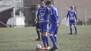 Joakim Larsson, till vänster, var en av Södras målskyttar i matchen mot Svärdsjö på lördagen.