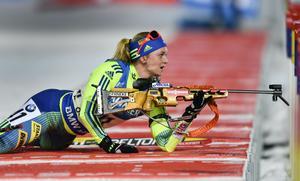 Mona Brorsson var bästa svenska vid distanstävlingen i Antholz.