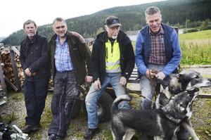 Sören Nilsson, Lars Kristensen, Gösta Åkernäset och Jan-Åke Hamberg har en sammanlagd jakterfarenhet på en bra bit över hundra år.