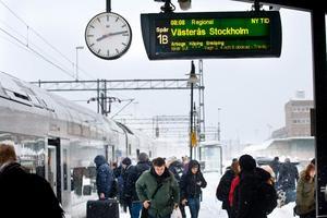 Tågtrafiken i Örebro län påverkas kraftigt av det rådande vädret.