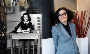 Ebba Witt-Brattström är en av de författare som deltar i maratonläsningen av Anne Franks dagbok. Bilden är ett collage.