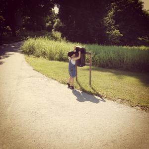 Dagens promenad i sommarvärmen på landet. Foto: Helena Bloom