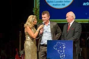 Ulf Bokelund Svensson mottog under Eldklotet priset för Årets företagare Hudiksvall 2015.