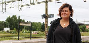 20-åriga Nadja Jokiniemi från Fagersta tycker att det vore toppen med en direktförbindelse till Stockholm.