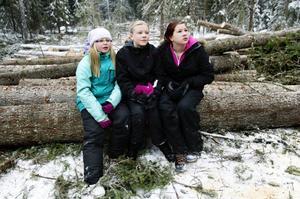 Emelie Gustavsson, Vendela Sjölund och Veronica Häggkvist är