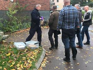 Polisen arbetade under lördagen intensivt med fallet.