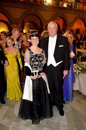 Stockholms finansborgarråd Sten Nordin med fru.
