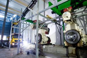 Stora Enso Ala Sågverk. Pelletsfabriken installeras för fullt, om bara två månader ska den vara i drift.