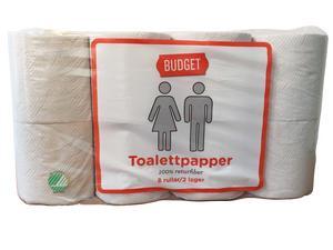 Budget toalettpapper.