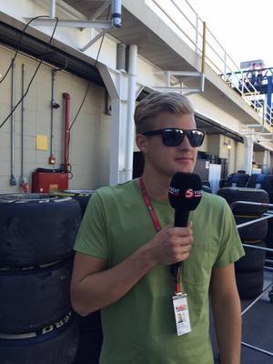Svenske Formel 1-föraren Marcus Ericsson agerade expertkommentator för Viasat Motors räkning i helgen.