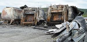 Sopbilar totalförstördes i Sollefteå