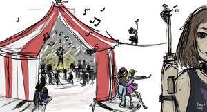Illustrationen är gjord av Kulturskoleeleven Fanny Åhrlin.