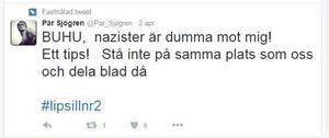Pär Sjögrens tweet