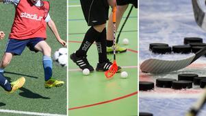 Fotboll, innebandy och hockey är de föreningar som får mest pengar. Foto: TT