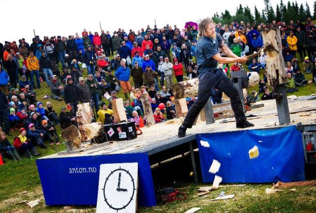 Where the action is festivalen regnade bort