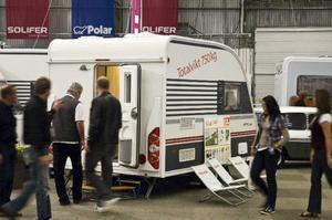 Lättviktare. Solifer 366 kan dras av många småbilar. Mässvagnens pris är strax under 200 000 kronor.Foto: Tomas Hägg