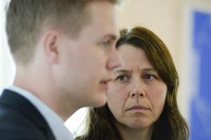 Miljöpartiets språkrör Åsa Romson och Gustav Fridolin.