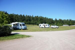 Campingen är nästintill tom när ST anländer. De flesta åkte därifrån strax efter frukost.