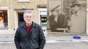 Olavi Viitanen minns när Olof Palme besökte Fagersta. Bilden till höger är från när Olof Palme besökte stålverket oktober 1984.