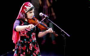 Ett av inslagen under mångfaldsfestivalen var folkmusik från olika länder.