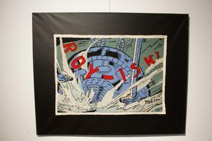 Roy Lichtenstein var en amerikansk popkonstnär. Här är Thomas Engströms hyllning till målaren som gjorde serietidningsliknade konst.