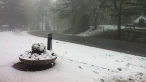 Så här ser det ut i Ånnaboda i dag. Har du snö hos dig?