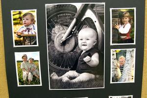 Bebisen framför motorcykeln är en av bilderna som Madelene Jonsson är mest nöjd med.